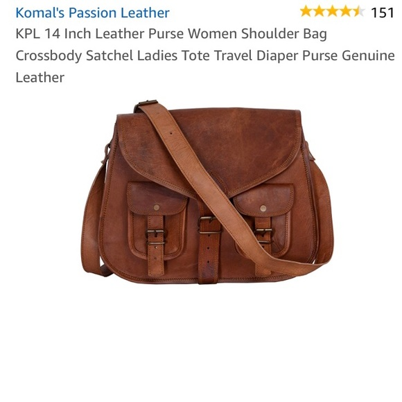 2d4e4ed0cb3f Komal Handbags - Leather satchel crossbody